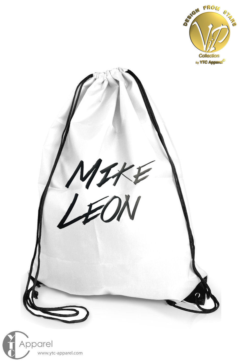 Mike Leon Logo Gym Bag white (11 Liter)